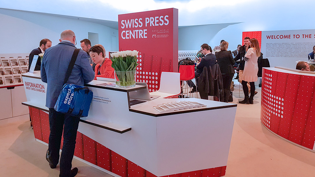 Stand des Swiss Exhibitors at Baselworld 2017