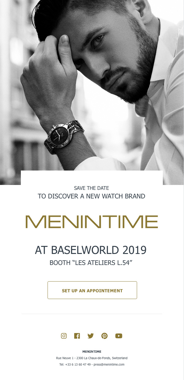 Invitation Menintime Baselworld -  1/2